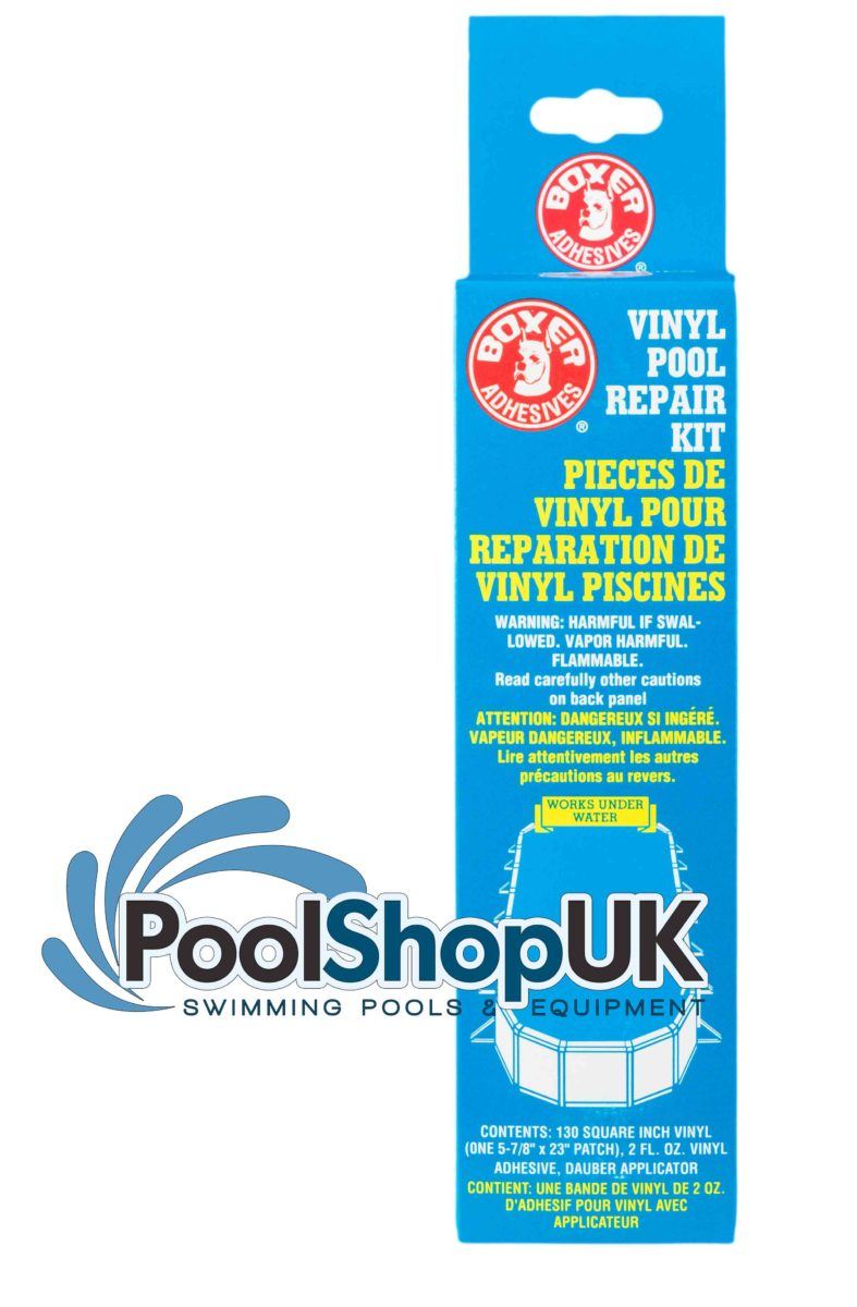 2 Oz Vinyl Pool Repair Kit Underwater Glue Adhesive Boxer Poolshopuk