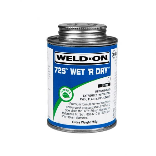 250g Weld On Wet & Dry 725 Swimming Pool Pvc-U Plastic Pipe Cement - poolshopuk