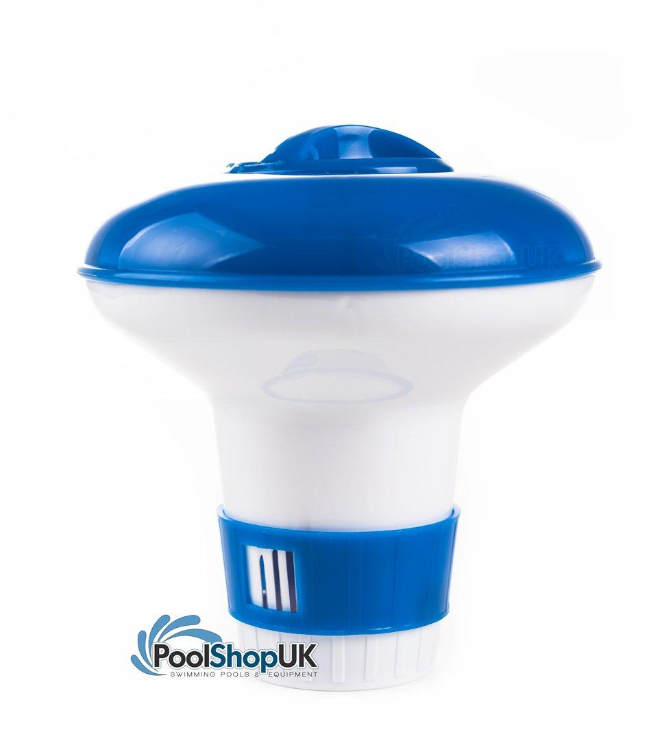 Small Floating Chemical Dispenser Pool Hot Tub 20g Chlorine Or Bromine Tablets Poolshopuk